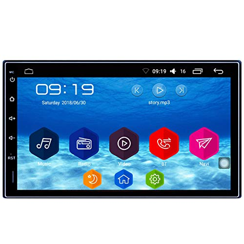 SP10 Android 6.0 Car Stereo 7 inch 2 din GPS Navigation Auto Radio AM/FM/RDS HD Touch Screen 1GB RAM 16GB ROM Universal Head Unit Mirror Link Steering Wheel Control 1024×600