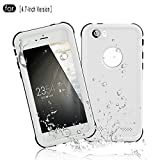 RedPepper iPhone 6/6s Waterproof Case[4.7-Inch Version], Full Sealed Underwater Protective Cover, Shockproof, Snowproof, Dirtproof for Outdoor Sports - Diving, Swimming, Skiing, Climbing (White)