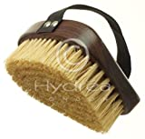 Hydrea London Dry Body Scrub - Exfoliating Wet Palm Brush - Made of Real Walnut Wood - Natural Hogs Hair Bristles