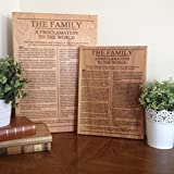 The Family Proclamation To The World Engraved on Wood, LDS art, Mormon sign