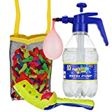 DG SPORTS Pack of 200 Water Balloons Bundle Set - Includes Pump for Quick and Easy Fill Up + Tie Knot Tool + Ball Launcher + Mesh Bag - Awesome Water Fight Kit for Kids - Summer Fun Battle Balloons