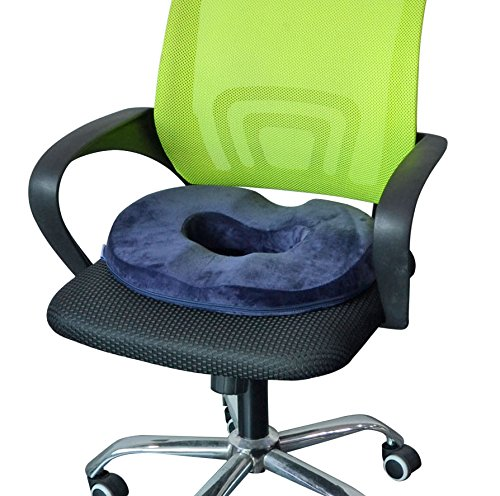 HOVERAREA Donut Seat Cushion, Memory Foam Comfort Tailbone Cushion Pillow for Hemorrhoids, Prostate, Pregnancy, Post-Surgery Relief(Darkblue) deal 50% off 51iMPQCBqwL