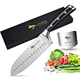 Santoku Knife - MAD SHARK Pro Kitchen Knives 7 Inch Chef's Knife, Best Quality German High Carbon Stainless Steel Knife with Ergonomic Handle, Ultra Sharp, Best Choice for Home Kitchen and Restaurant