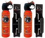 Udap Safety Orange Bear Spray Deterrent with Griz Guard Holster 2 Pack