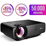 RAGU Z400 Mini Projector, 2019 Upgraded Full HD 1080P 180' Display Supported, 50,000 Hrs Home Movie Projector for PC/MAC/DVD/TV/Xbox/Movies/Games/Smartphone with HDMI/VGA/USB/AV/SD (Black)