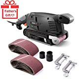TACKLIFE Classic Belt Sander 3×18-Inch with 13Pcs Sanding Belts, Bench Sander with Variable-speed Control, Fixed Screw Clamps, Dust Box, Vacuum Adapters, 10Feet (3 meters) Length Power Cord PSFS1A
