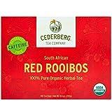 Red Rooibos Tea 100 Teabags USDA Organic - Naturally Caffeine Free - Cederberg Tea Company