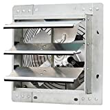 Iliving 10 Inch Variable Speed Shutter Exhaust Fan, Wall-Mounted, 10'