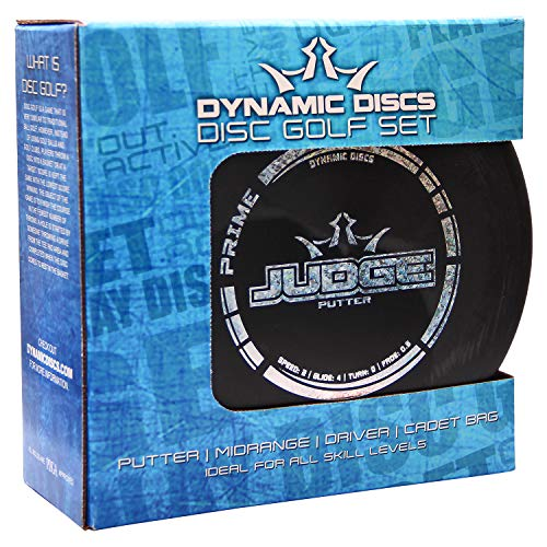 Dynamic Discs 3 Disc Starter Set with Cadet Disc Carrying Bag
