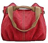 Z-joyee Women\s Ladies Casual Vintage Hobo Canvas Daily Purse Top Handle Shoulder Tote Shopper Handbag