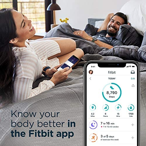 Fitbit Charge 4 Special Edition Fitness and Activity Tracker with Built-in GPS, Heart Rate, Sleep & Swim Tracking, Black/Granite Reflective, One Size (S &L Bands Included) 9