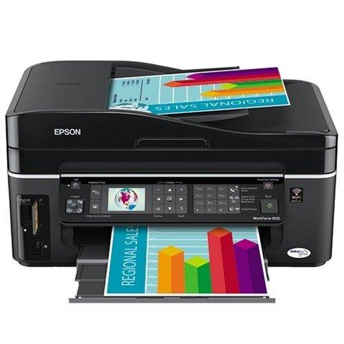 Amazon Com Epson Workforce  Wireless All In One Printer Black Cca Multifunction Office Machines Electronics