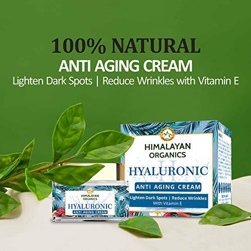 51iUp42l6cL - Himalayan Organics Hyaluronic Acid Anti Aging Cream for Under Eye Dark Circles, Anti Wrinkle, Skin Brightening, 50 ml