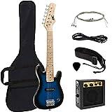 Best Choice Products Electric Guitar Kids 30' Blue Guitar W/ Amp, Case, Strap (Blue)