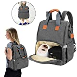 Teamoy Breast Pump Bag Compatible with Spectra S1,S2, Medela and Cooler Bag, Convertible Breast Pump Tote and Backpack with Laptop Sleeve for Working Moms, Gray