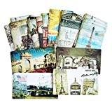 IronFizz897 Romantic Card 1Pack/Lot Vintage Romantic Post Card Classic Paris Card Set Memory Postcards Can Be Mailed Greeting Card Office&School Supplie