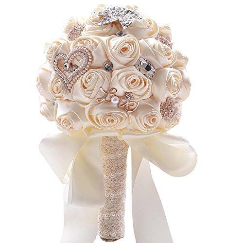 JACKCSALE Wedding Bride Bridal Bouquet Brooch Bouquet Bridesmaid ...