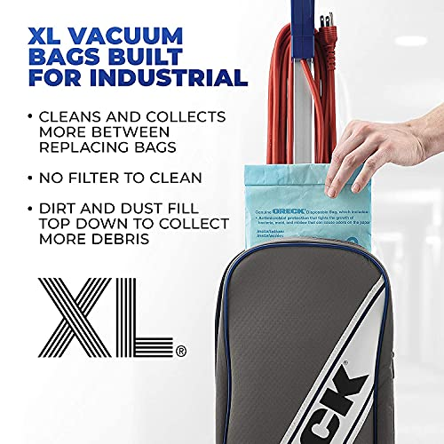 Oreck XL Commercial Upright Vacuum Cleaner, Bagged Professional Pro Grade, 9 Pounds 35-Foot Long Cord, XL2100RHS, Gray/Blue 15