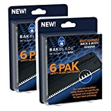 BAKblade 2.0 Refill Cartridges Bundle - Back Hair & Body Shaver Refill Replacement Cartridges. Extra-Wide Wet or Dry Disposable Razor Blades (12 Razors Included)
