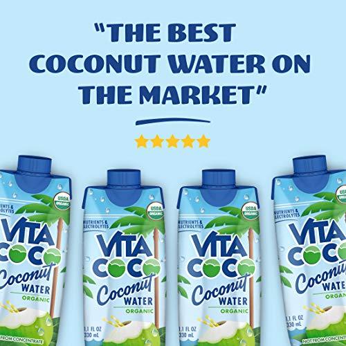Vita Coco Coconut Water, Pure Organic | Refreshing Coconut Taste | Natural Electrolytes | Vital Nutrients | 11.1 Oz (Pack Of 12) 8