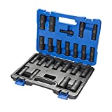 Kobalt 23-Piece 1/2-in Drive Standard (SAE) And Metric Combination 6-point Impact Socket Set with Case