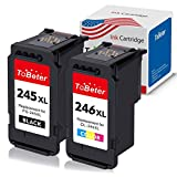 ToBeter Remanufactured Ink Cartridge Replacement for Canon PG-245XL CL-246XL PG-243 CL-244 Used in Pixma MX492 MX490 MG2420 MG2520 MG2522 MG2920 MG2922 MG3022 MG3029 iP2820(1 Black, 1 Tri-Color)