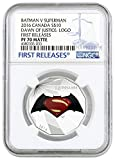 2016 CA Batman v Superman: Dawn of Justice $10 - 1/2 oz. Fine Silver Coin - NGC PF70 Matte FIRST RELEASES $20 PF70 NGC FIRST RELEASES