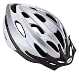 Schwinn Thrasher Lightweight Microshell Bicycle Helmet with Rear Tail Light for Higher Visibility Biking, Featuring 360 Degree Comfort System with Dial-Fit Adjustment, for Men and Women, Grey