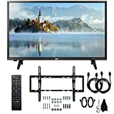 LG 28LJ430B-PU 28' Class HD 720p LED TV (2017 Model) with Slim Flat Wall Mount Kit and Two (2) 6 Foot HDMI Cables Ultimate Bundle