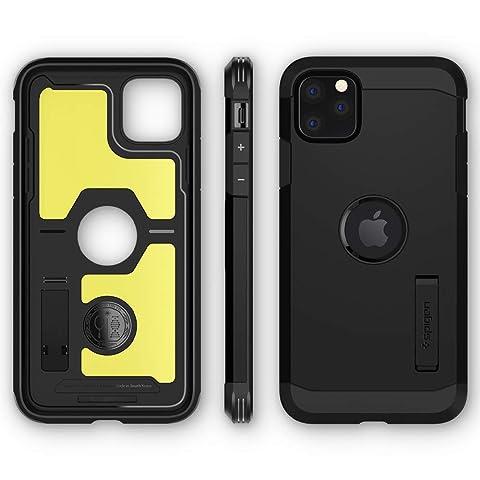 【Spigen】 iPhone 11 Pro Max ケース 6.5インチ 対応 超耐衝撃 新モデル スタンド機能 米軍MIL規格取得 カメラ保護 傷防止 衝撃 吸収 Qi充電 ワイヤレス充電 タフ・アーマー XP 075CS27429 (ブラック)