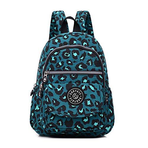 Ranoff Women Men Fashion Backpack Large Capacity Nylon Waterproof Travel Bags Schoolbag for School Travel Gift (H)