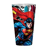 Silver Buffalo SP10031P DC Comics Superman Intense Stare Pint Glass, 16 oz, Multicolored