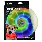 Nite Ize Flashflight Dog Discuit, Light Up Dog Flying Disc, Disc-O Color Changing LED