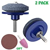 PASNOWFU Lawn Mower Blade Sharpener for Any Power Drill Hand Drill, 2019 New Lawn Mower Sharpener Lawn Mower Blade Sharpener for Power Drill Hand Drill(2 Pack)
