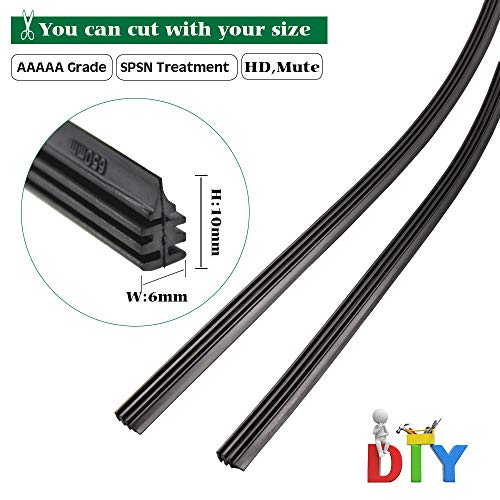BEMOST Car Frameless Windshield Wiper Blade Refills Rubber strips Pack of 2 (26 Inches)