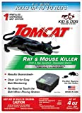 Tomcat Rat and Mouse Killer Disposable Station for Indoor/Outdoor Use - Child and Dog Resistant (1 Station)