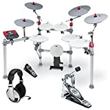KAT KT3 Advanced High Performance Digital Drum Set w/ Single Bass Drum Pedal and Headphones