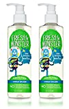 Fresh Monster Toxin-free Hypoallergenic 2-in-1 Kids Shampoo & Body Wash, Ocean Splash, 2Count, 8.5 oz