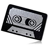 "Vintage Retro Old 1990's Cassette Tape Record Music Songs Audio Record Vinyl Compact Portable Stereo Track Listen Video Taped Hook & Loop Fastener Patch [ 3.25"" x 2.25""] + Certificate"