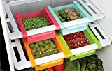 Saimani 4 Pcs Set of Refrigerator Plastic Storage Fridge Racks Tray Selves Shelf (Multicolour)