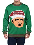 Product review for Tipsy Elves Men's Make Christmas Great Again Sweater - Trump Ugly Christmas Sweater
