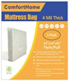 ComfortHome 2 Pack Mattress Bag For Moving and Storage, Queen/King Size, Waterproof, Dust Proof, Bed Bug Proof