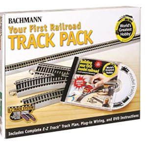 Bachmann Trains Snap-Fit E-Z TRACK WORLD'S GREATEST HOBBY FIRST RAILROAD TRACK PACK – NICKEL SILVER Rail With Grey Roadbed – HO Scale 51iyk55 2BrTL