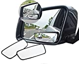 Meirun 360° Rotate Blind Spot Mirror,Adjustable Wide Angle Rear View Mirror HD Glass Convex Side View Mirror for Car