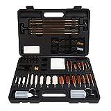 FIREGEAR Universal Gun Cleaning Kit Supplies for Rifle, Handgun(Pistol, Revolver) and Shot Gun Cleaning Kit for All Guns with Case (Brass)