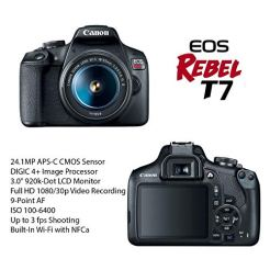 Canon-EOS-Rebel-T7-DSLR-Camera-Bundle-with-Canon-EF-S-18-55mm-f35-56-is-II-Lens-2pc-SanDisk-32GB-Memory-Cards-Accessory-Kit