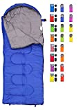 REVALCAMP Sleeping Bag for Cold Weather - 4 Season Envelope Shape Bags by Great for Kids, Teens & Adults. Warm and Lightweight - Perfect for Hiking, Backpacking & Camping (Blue - Envelope Left Zip)