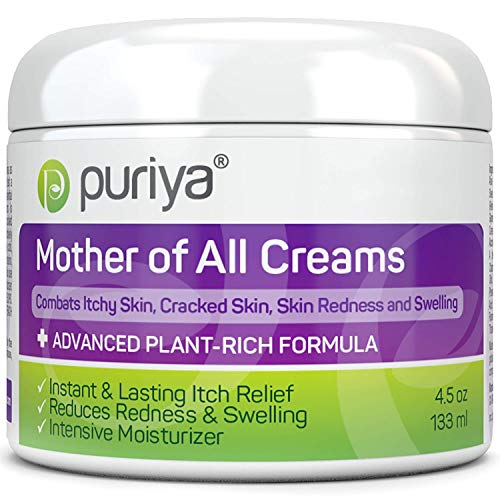 Puriya Cream for Eczema, Psoriasis, Dermatitis and Rashes. Powerful Plant Rich Formula Provides Instant and Lasting Relief for Severely Dry, Cracked, or Irritated Skin (4.5 oz)