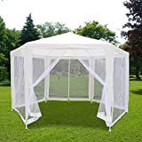Quictent 10' x 30' Party Tent Gazebo Wedding Canopy with Removable Sidewalls & Elegant Church