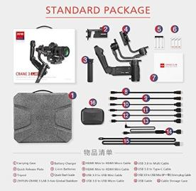 Zhiyun-Crane-3-LAB-3-Axis-Handheld-Stabilizer-Gimbal-Redefine-Stabilizer-45KG-Payload-for-All-Almost-Mirrorless-Cameras-DSLRsVersatile-StructureWireless-Image-Transmission-ViaTouchStandard-Pakege